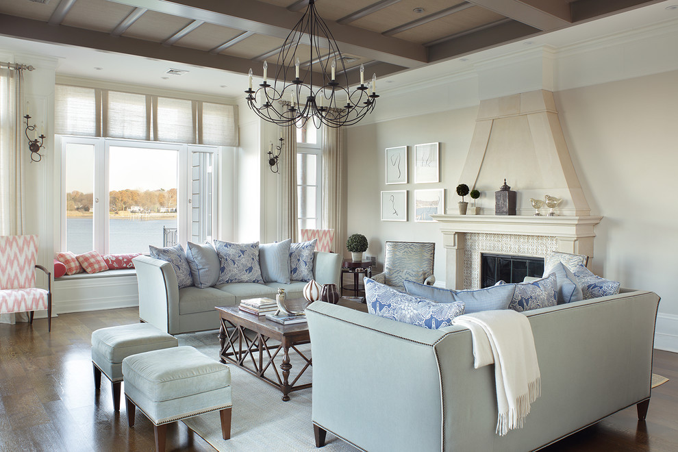 living-room-sofa-linear-chandelier-from-metal-seating Upholstered Furniture
