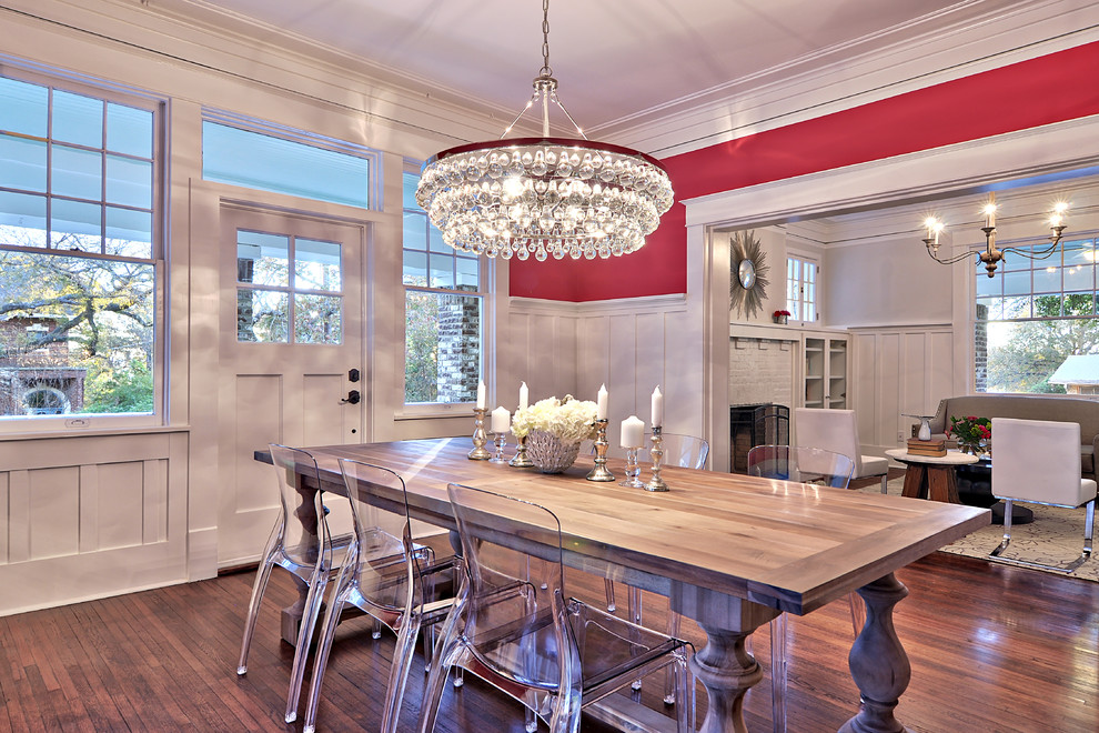 luxurious-dining-room-in-the-eclectic-style-contemporary-chandeliers-for-the-living-room