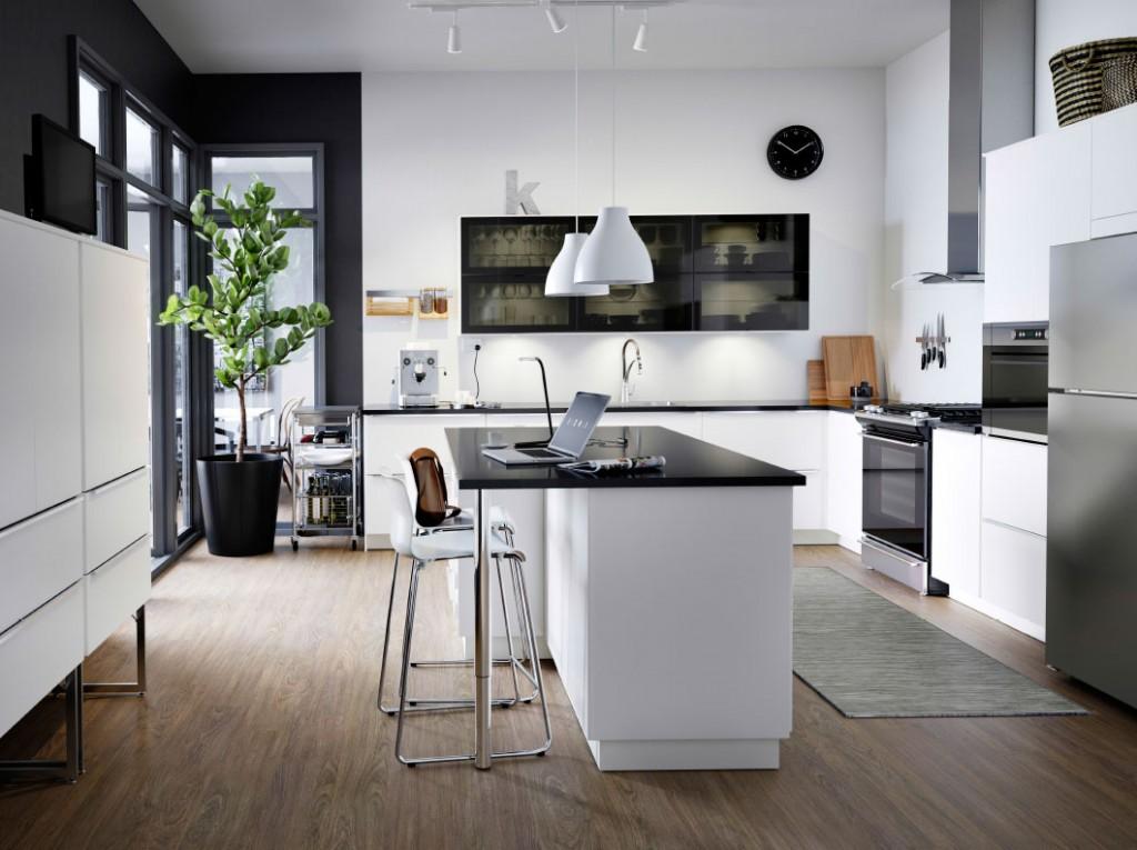 modern-wall-shelves-in-black-kitchen-shelves-with-glass-doors