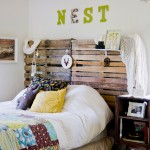Bed Headboard Of Wooden Pallets
