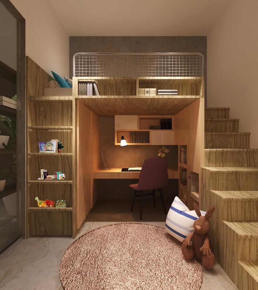 modern-bunk-bed-with-desk-nursery-ideas