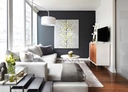modern-design-in-light-grey-laminate-flooring-concrete-wall-living-room-setup-ideas