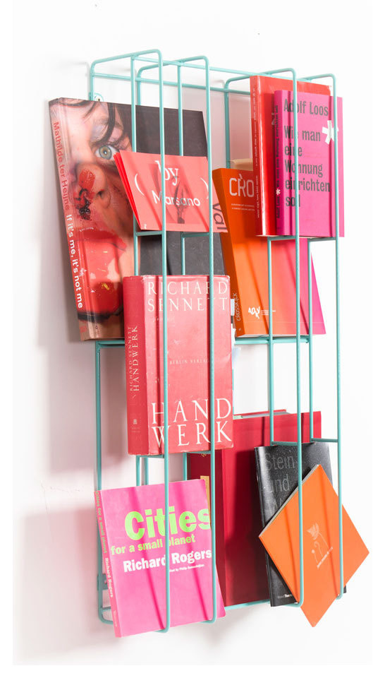 original-bookshelves-wall-rack-green-metal-bookcase-design