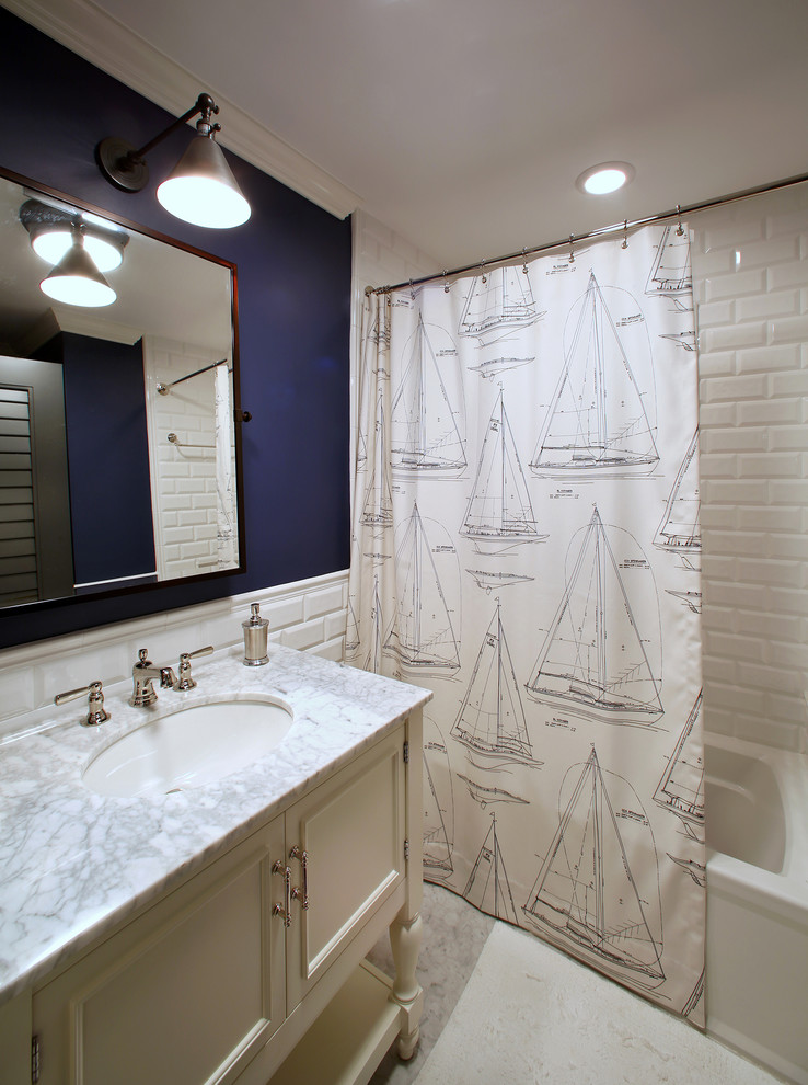 shower-curtain-with-sailboats-in-the-maritime-style-shower-curtain-design