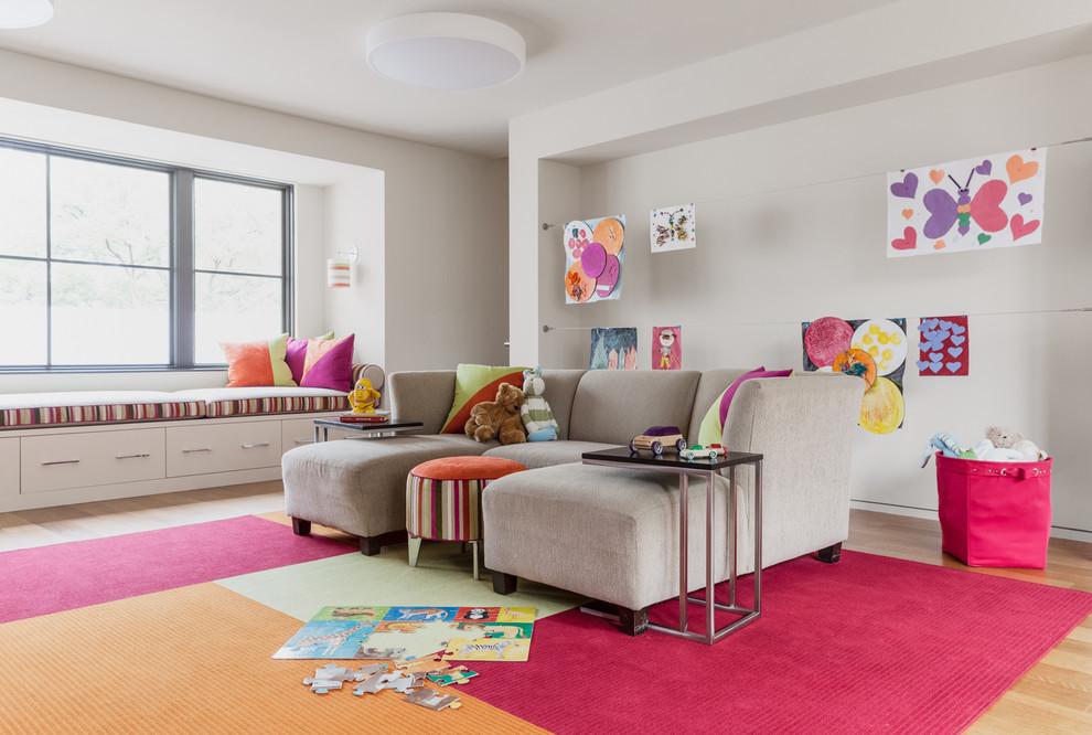 spacious-nursery-in-pink-and-purple-window-seat-nursery-ideas