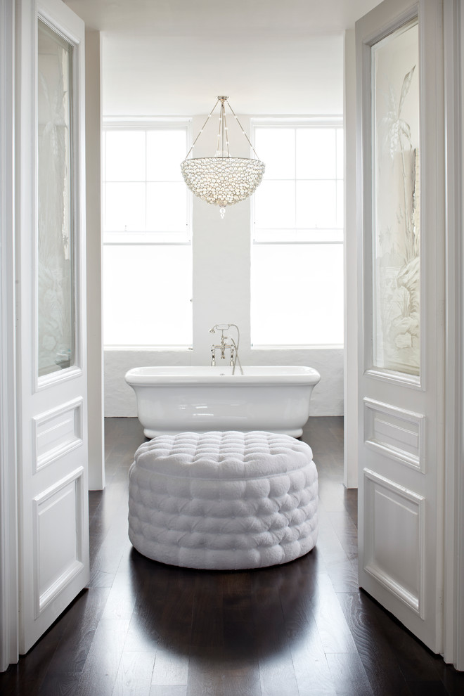 sumptuous-bathroom-in-white-contemporary-chandelier-for-the-living-room