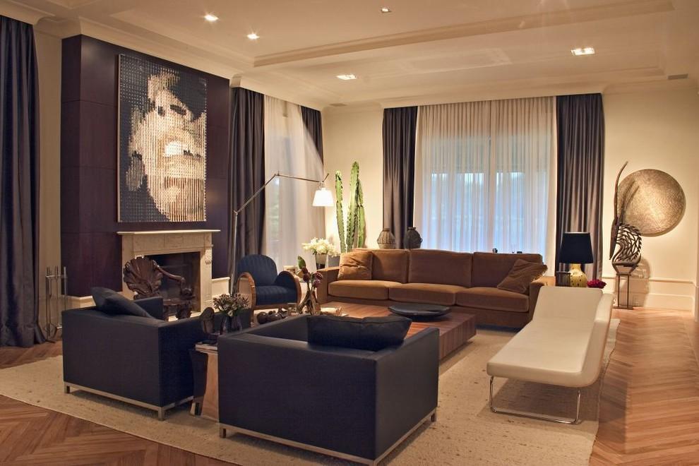 sumptuous-living-design-trendy-living-room-in-brown