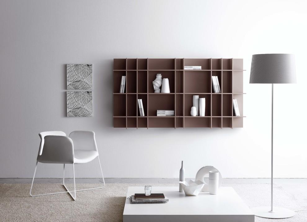 wall-shelf-modern-designer-simply-floor-lamp-chair-white-grey-bookcase-design