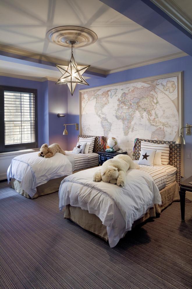 walls-purple-world-map-nursery-ideas