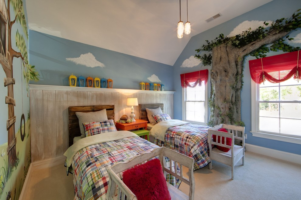 youth-room-in-red-and-blue-diy-headboard-euro-pallet