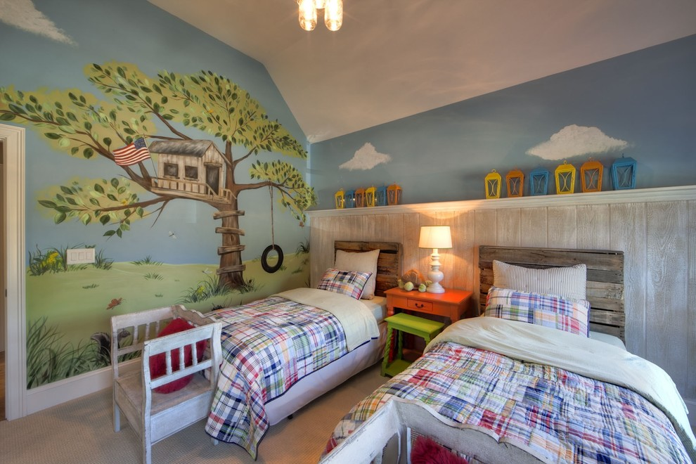 youth-room-wall-painting-diy-headboard-euro-pallet