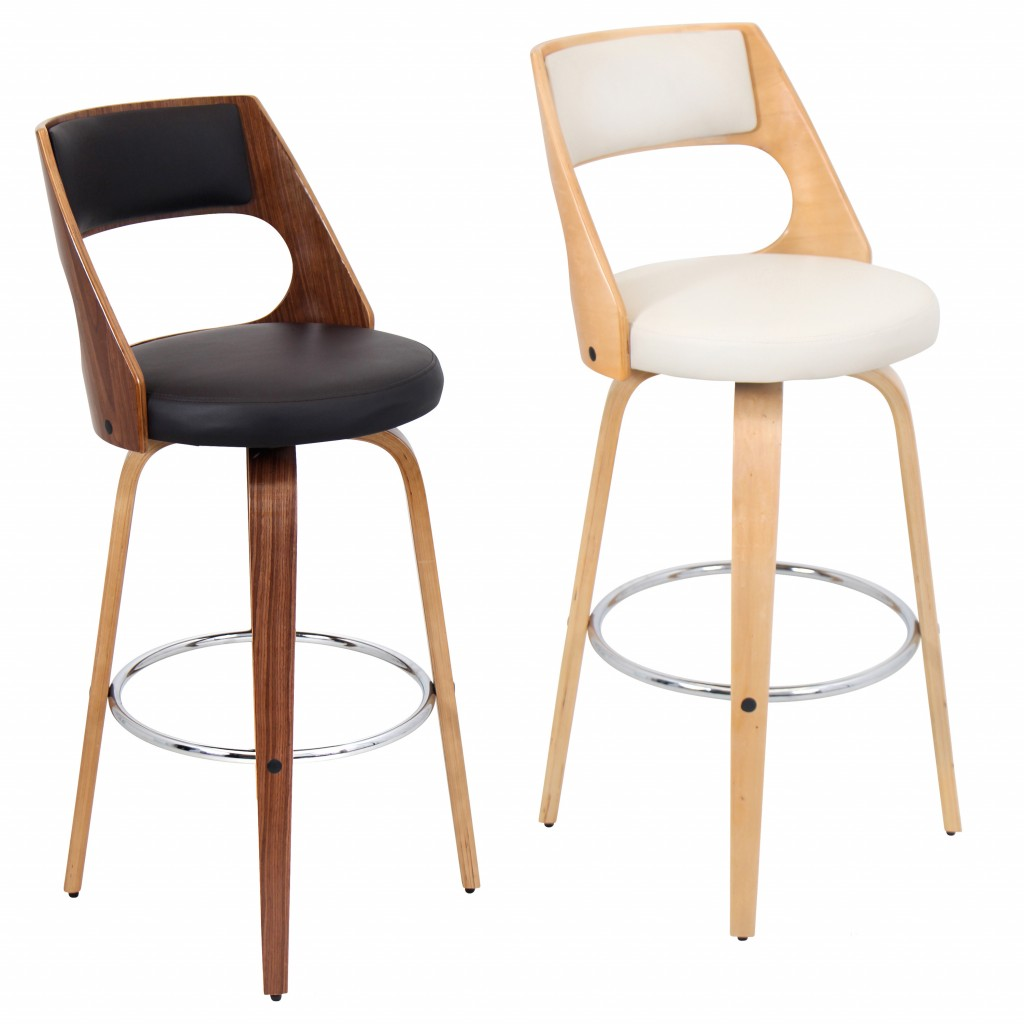 Designer bar Chair in Brown and white bar stools for your kitchen
