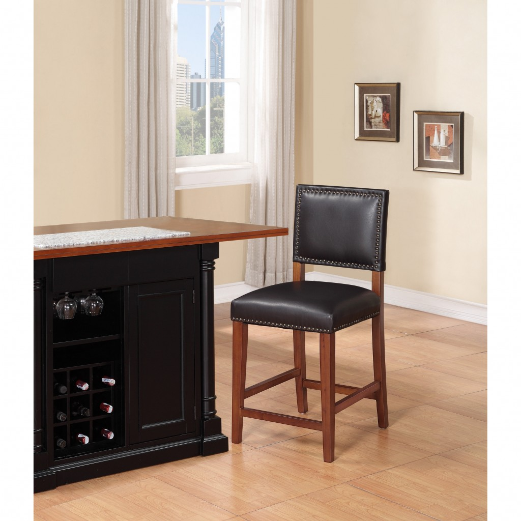 Luxurious barstool from leather bar stools for your kitchen