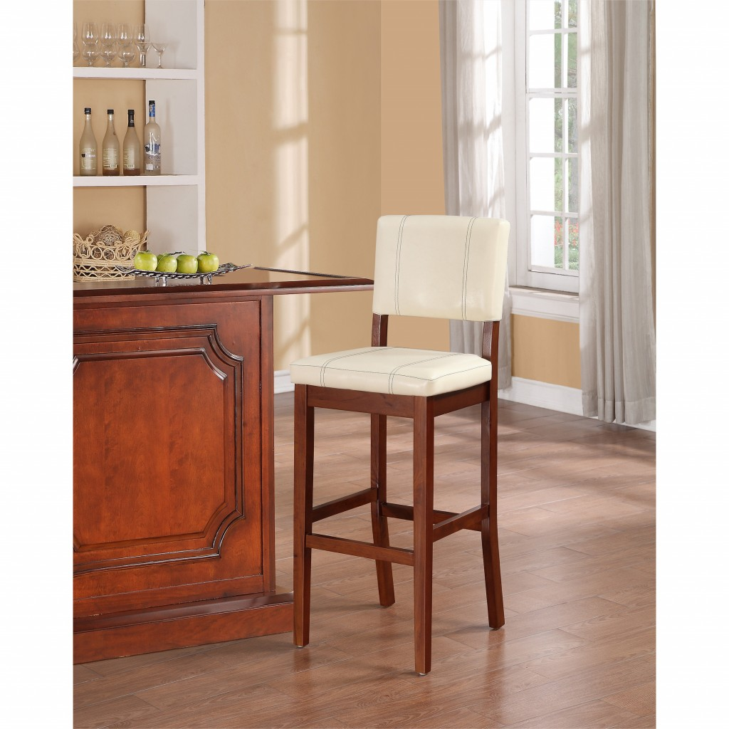 Simple traditional design in ivory bar stools for your kitchen