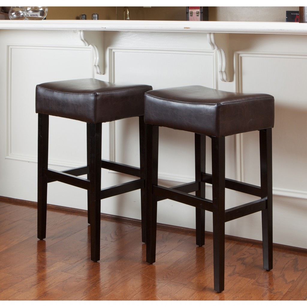 Traditional bar stool without backrest in leather bar stools for your kitchen