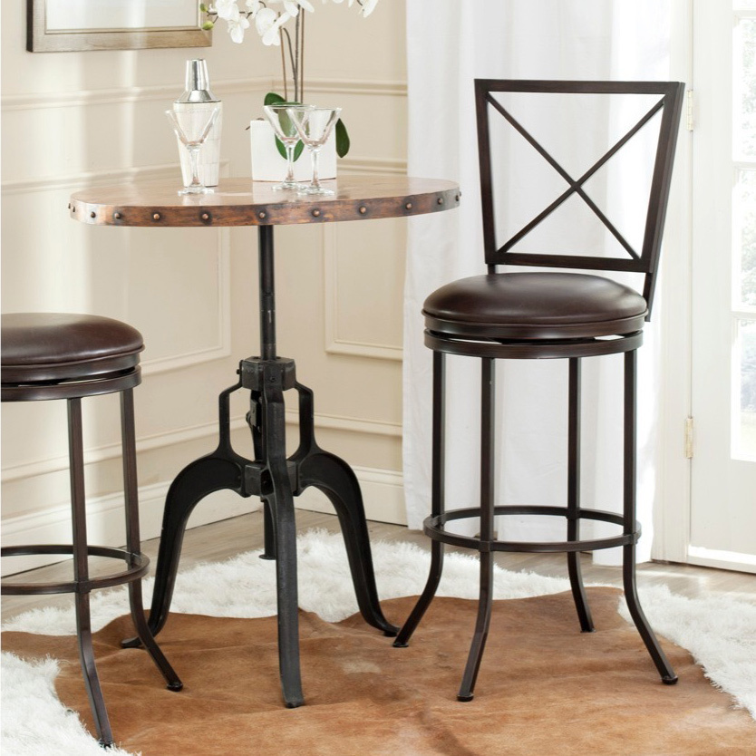 Traditional leather bar stool with backrest bar stools for your kitchen