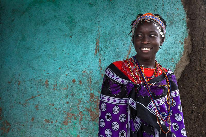 Masai Woman Colorful Clothes kenya-travel-photographer-masai-mara