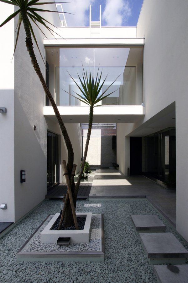 Modern minimalist Garden House landscape in the minimalist style luxury