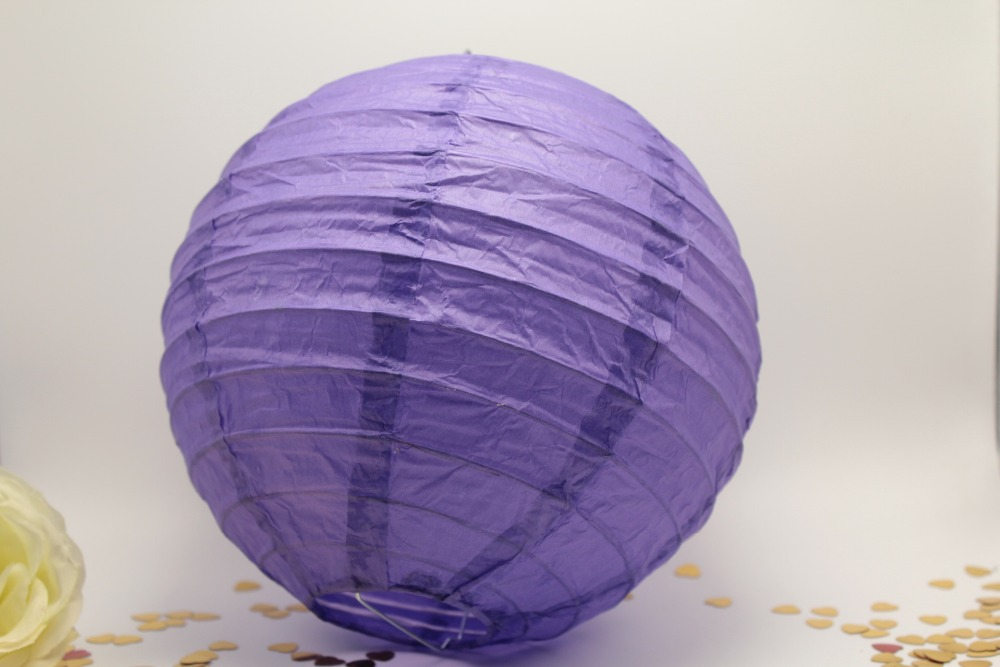 Paper lantern in purple decorating with paper lanterns
