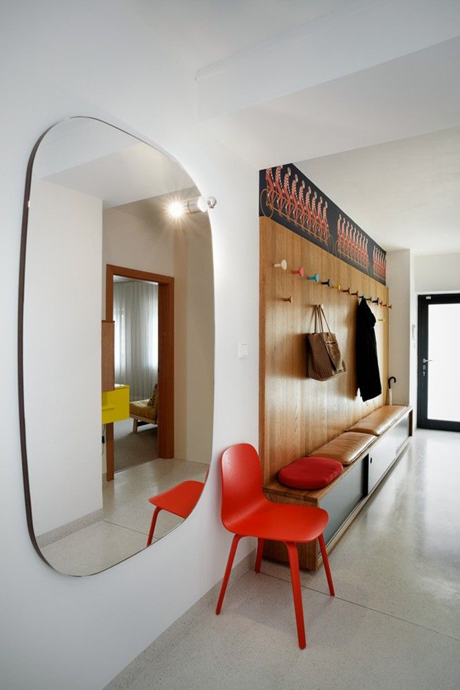 3-large wall mirror corridor design wood lobby furniture