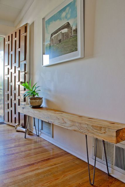 4 - seat wooden modern Rustic plank furniture