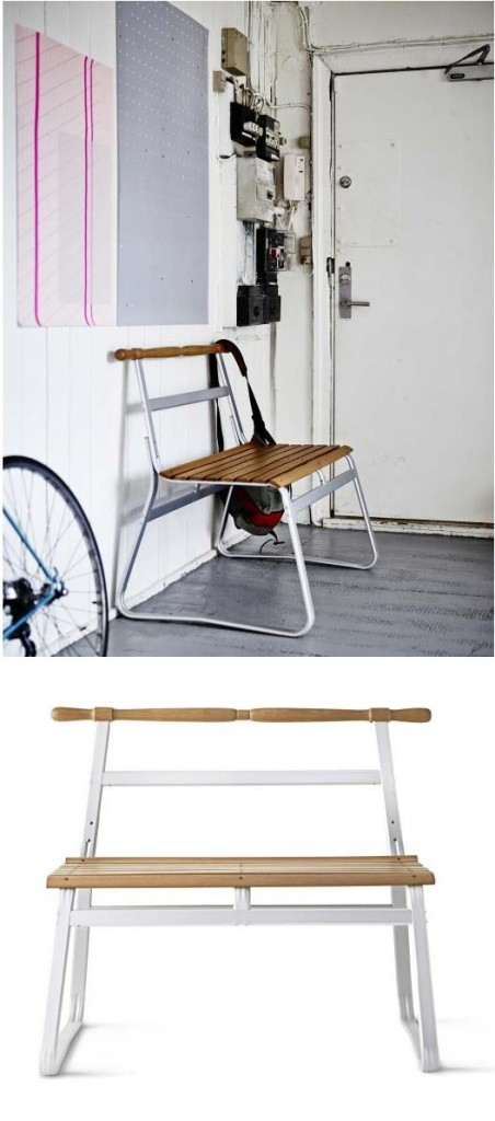 6 seat made of wood for the floor creative modern hallway furniture