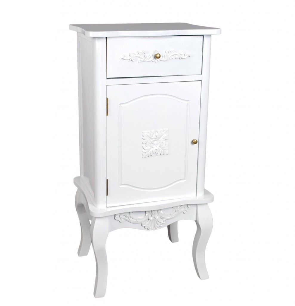Baroque COMMODE in white interior design in vintage and Shabby Chic