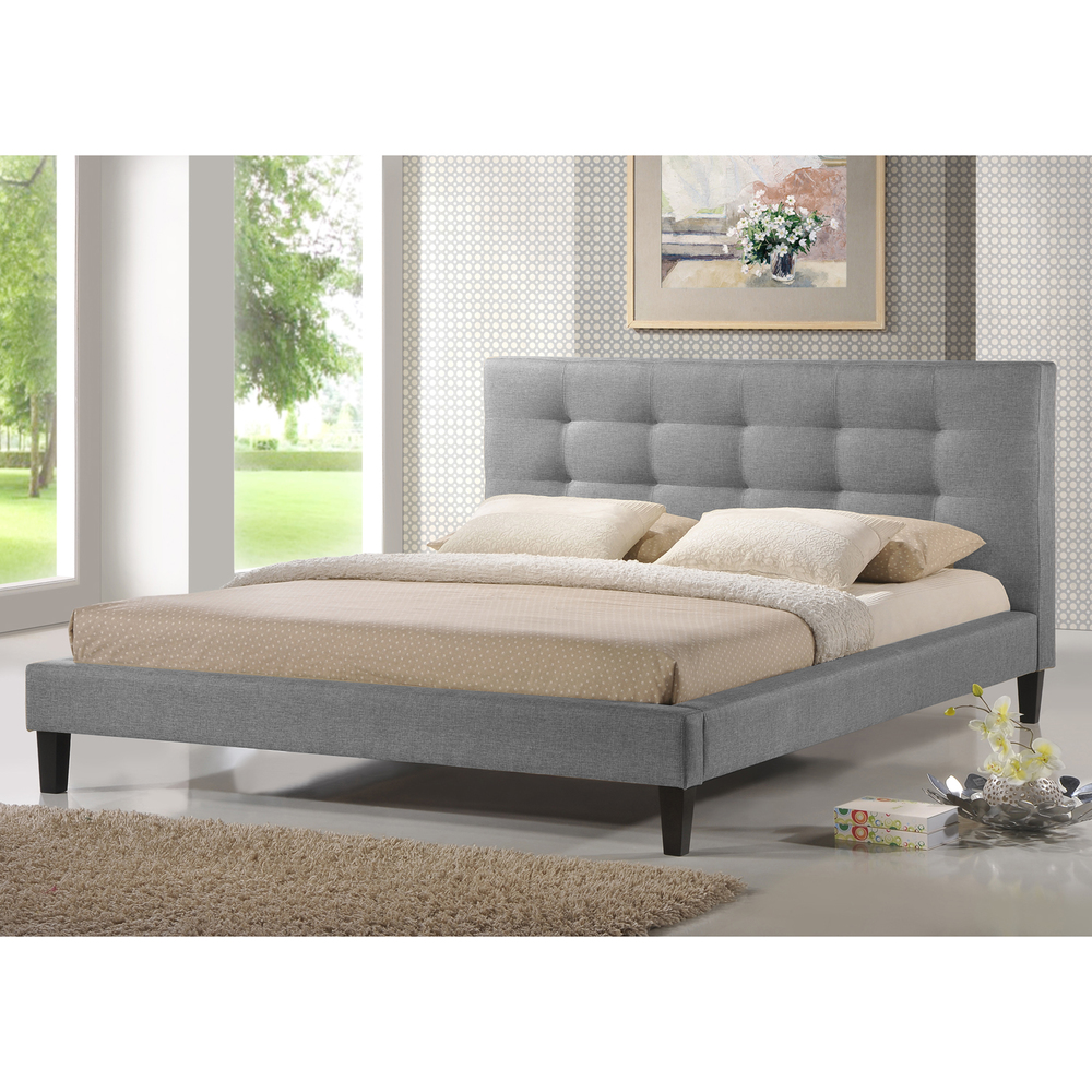 Bed in gray with Kopteil bedroom luxury beds