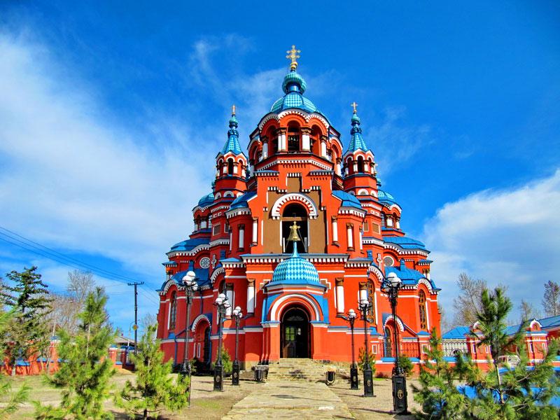 Church-of-Lady-of-Kazan,-Irkutsk,-Russia