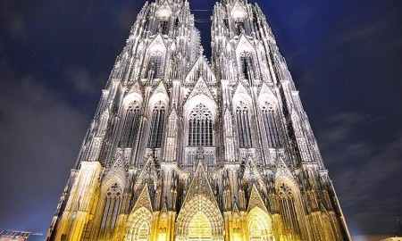 Cologne Cathedral, Germany by night most famous churches in Europe