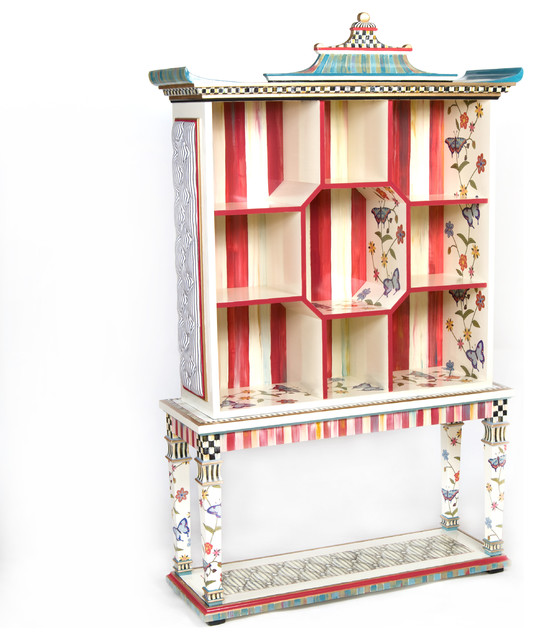 Colorful exotic Bookshelf eclectic pieces of furniture