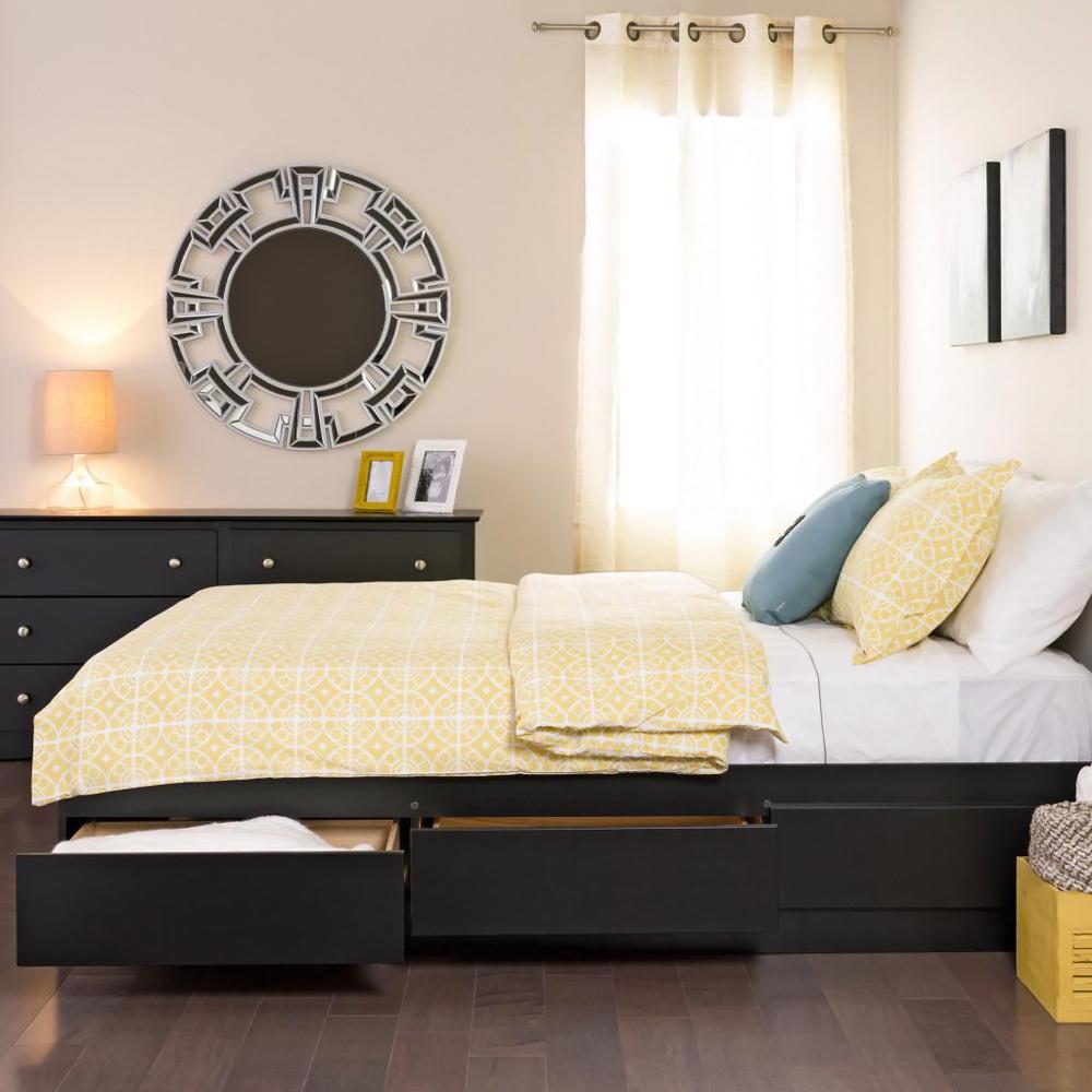 Functional storage drawers bedroom luxury beds