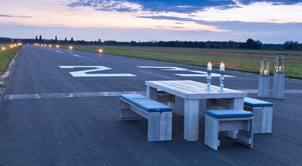 Industrial dining table furnishings - garden furniture set