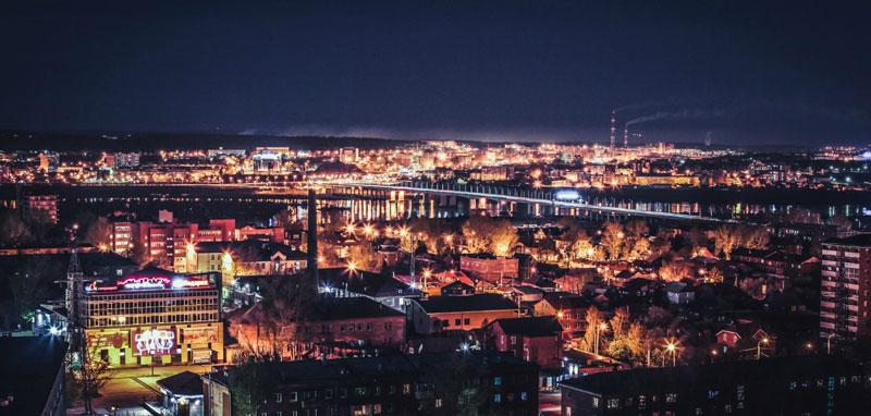 Irkutsk-by-night-city-lights-beautiful-view-Russia