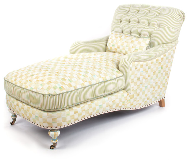 Ivory colored chaise lounge contemporary design eclectic pieces of furniture