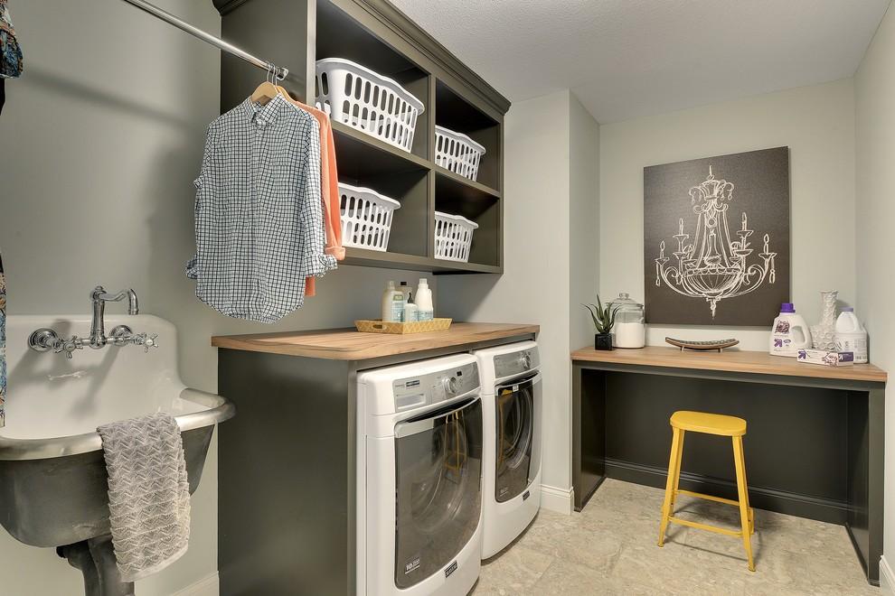 Laundry room wall shelf laminate countertops sinks elegant modern storage