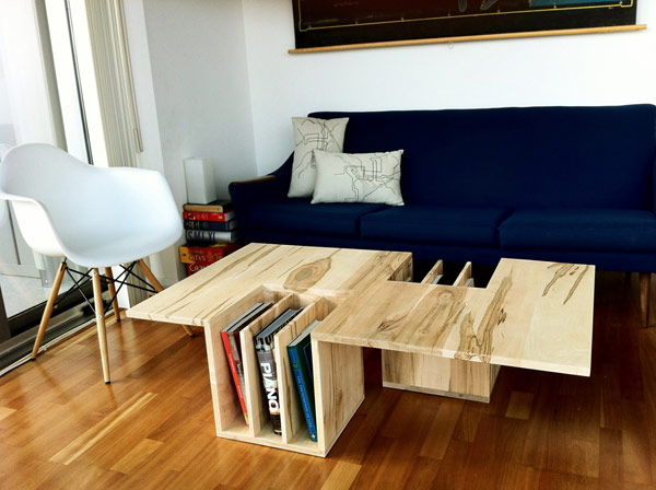 Living room ideas from design with Eames Chair book shelf wood