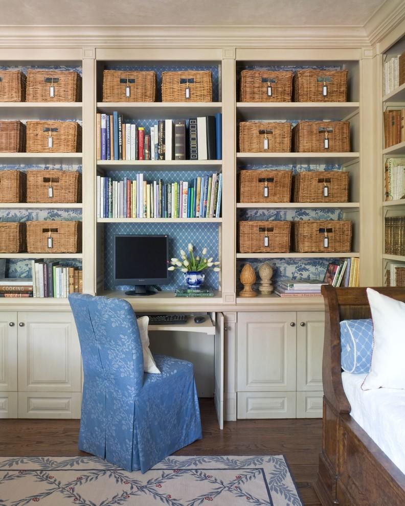 Mediterranean Home Office Organization Order Shelving Baskets Storage