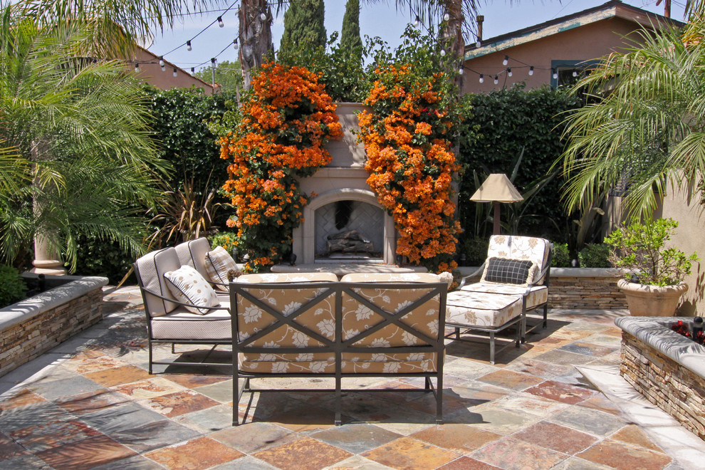 Mediterranean garden lounge set - metal garden furniture Outside fireplace