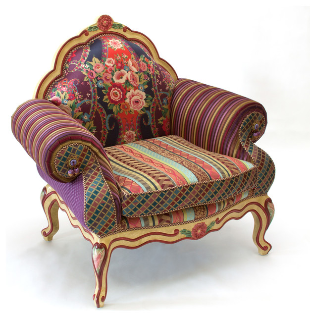 Mid Centrury patchwork eclectic seating furniture