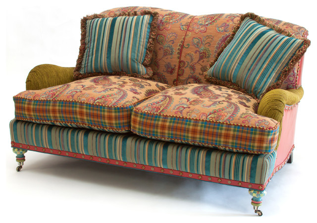 Mid Century Colorful Sofa Design Eclectic Seating Furniture
