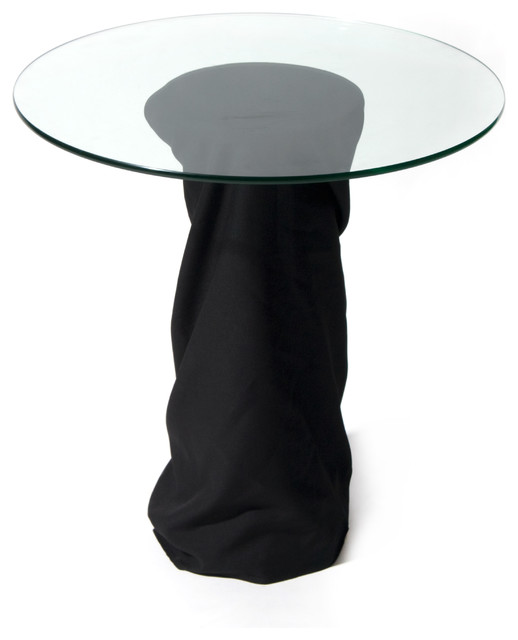 Mid century pedestal table eclectic interior design