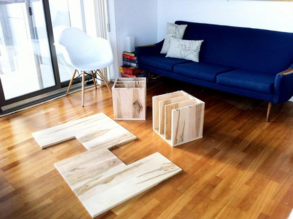 Modern home accessory wood book shelf