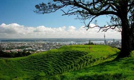 Mount Eden Auckland Heritage Festival Green Village People City View Grass