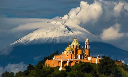 Popocatépetl, Mexico Vulcano iglesia de nuestra
