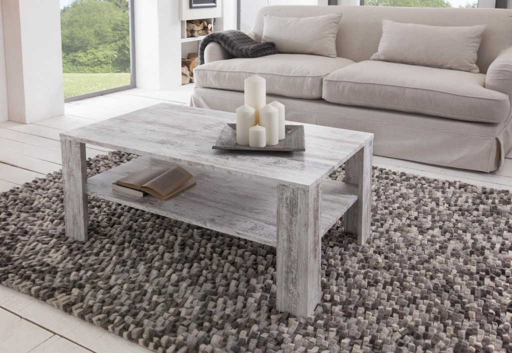 Rustic living room coffee tea table coffee table interior design in vintage and Shabby Chic