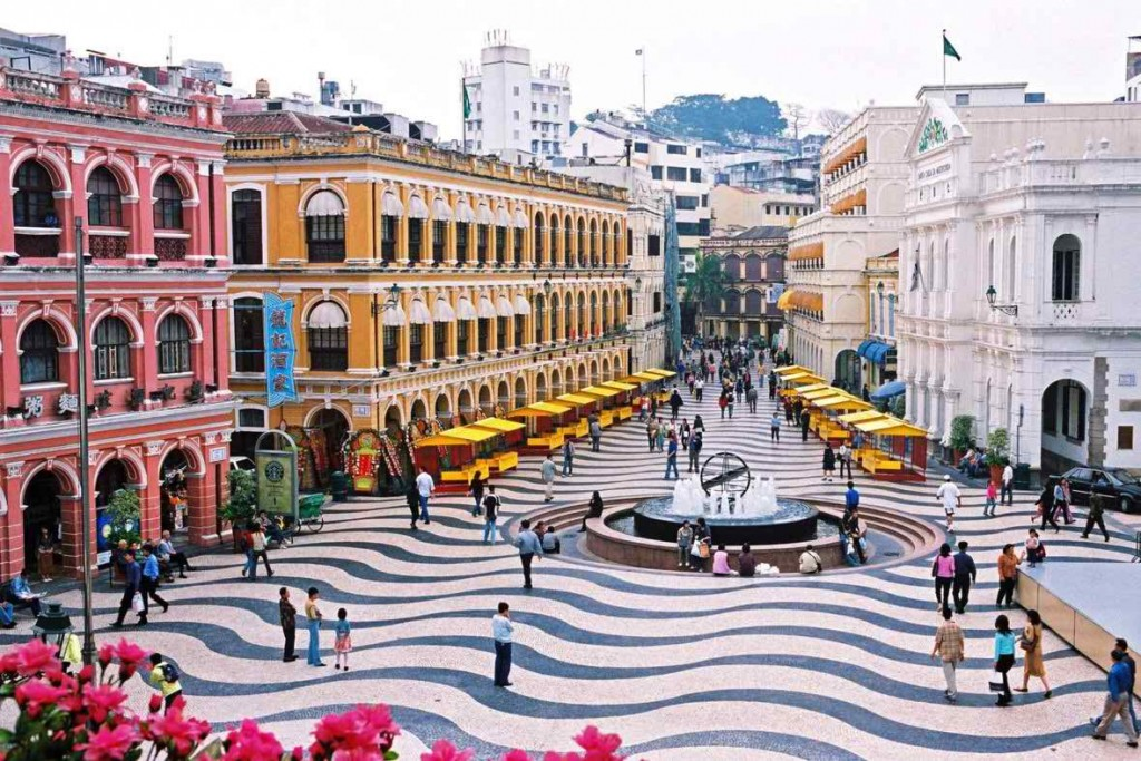Senado Square, Macau, China Tourist destination colorful