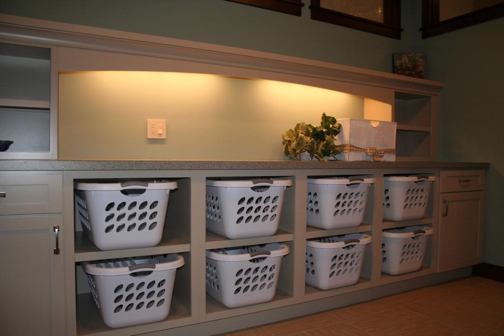 Shelf basket laundry right system tray modern storage