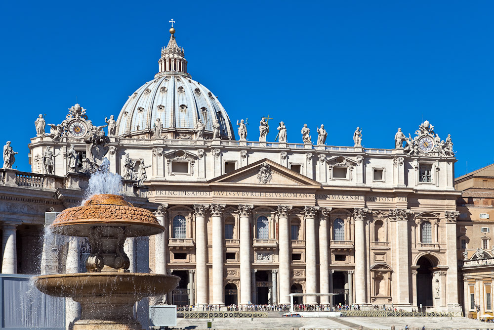 Sistine Chapel Vatican City Italy Outdoor View