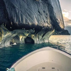 The Marble Caves In Chile